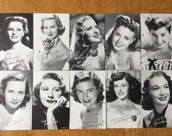 10 Exhibit Movie Star Cards