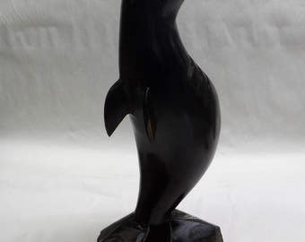 Seal Ironwood sculpture (#iwslv15.5)