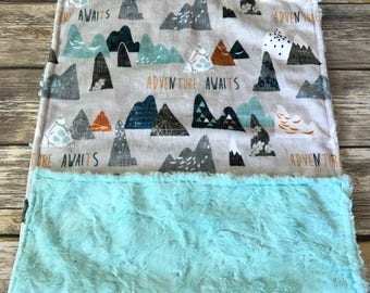 Security Minky Baby Blanket- Adventure Awaits Lovely Blanket