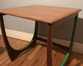 Gplan side table in original condition with a hint of colour