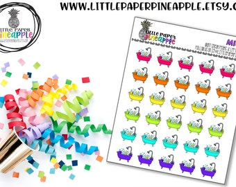 BATH TIME RELAX Planner Stickers | Repositional Matte Stickers | Ms32