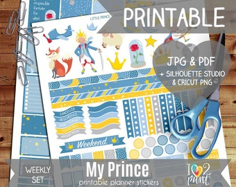 My Prince Printable Planner Stickers, Erin Condren Planner Stickers, Weekly Planner Stickers, ...