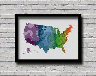 Us Map Pattern Etsy - Us map patterns