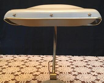 Vintage Gooseneck Lamp / Gooseneck Table Lamp / Gooseneck Desk Lamp / Cannon Lamp / Cannon Gooseneck Lamp / Cannon Gooseneck Lamp