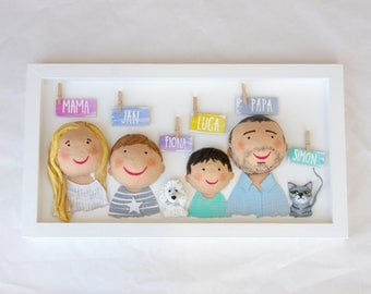Table family custom 4 people and two pets