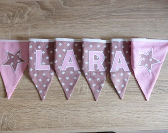 "Pennant Garland ""Little stars"" Pink is named"