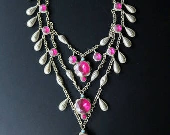 OLD CHANDA HAAR - Vintage Tribal Jewelry Necklace from Central Asia