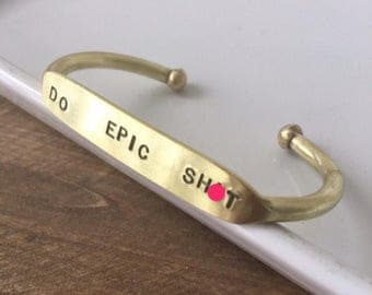 Do Epic Sh*t | Off-Beat Cuff | Graduation Gift | Entrepreneur | Like a boss gift | Funny Jewelry | Curse Jewelry | Do Cool Things | Make it