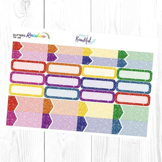 Glitters Rainbow Appointment Labels Amp Quarter Boxes