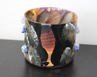Handmade Mixed Media Upcycled Jar