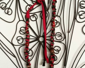 Handmade necklace red passion