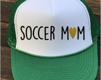 Soccer Mom, Soccer Trucker Hat, Snapback