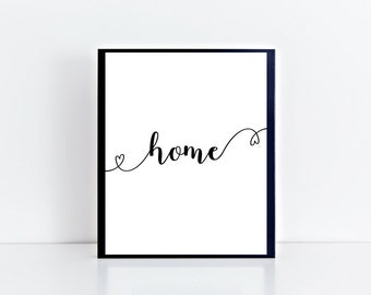 Home Wall Art , Love , Motivational Print , Typography Print , Floral , A4 Wall Art , Digital Art , Valentines Day