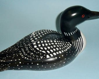 Carved Loon decoy