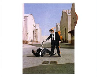 Reservoir Dogs/Pink Floyd 'Vinyl Record' Art Print