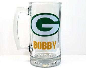 Green Bay Packers Beer Mug - Football Fan - Green Bay Packers Gift - Green Bay Packers Fan - Packers Fan - Green Bay Packers Mug