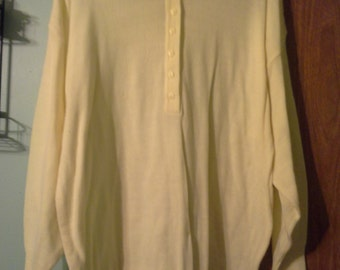 womens long sleeve button down yellow collared sweater   size  18-20