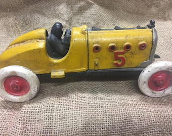 Vintage Cast Iron Race Car