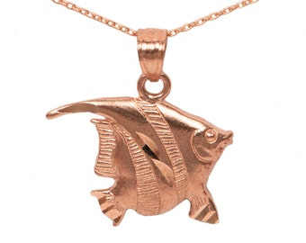 14k Rose Gold Fish Necklace