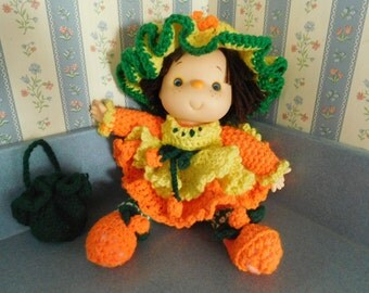 Vintage Handmade Orange Blossom Doll from the 1980's