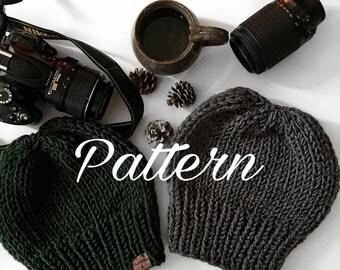 Knitting PATTERN- Venture Beanie - pattern, knit hat pattern- easy knit pattern, beginner knit pattern- PDF, EASY Knitting pattern- Tutorial