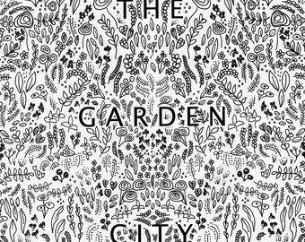 The Garden City tea towel