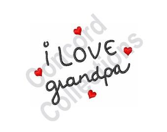 Grandpa Machine Embroidery Design