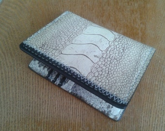 Exotic 5 leather mini wallet
