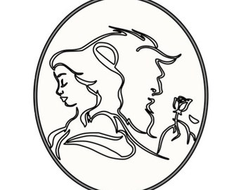 Beauty and the Beast SVG file
