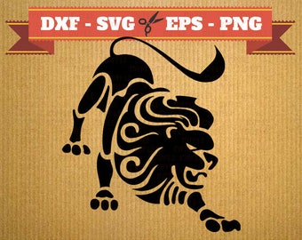 Lion SVG Leo Lion vector files for cricut, Lion cutting files, clipart Lion, DXF files lion, silhouette lion, svg animal