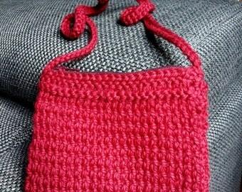 Storage bag Burgundy/dark red wool neck