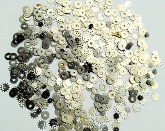 30g Nail Art Glitters  Steampunk Acrylic 3D Decoration Cyberpunk Real Watch Parts Assorted Industrial Art Materials