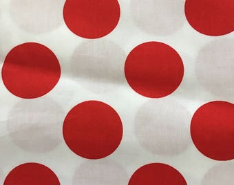 Large red dot cotton fabric.