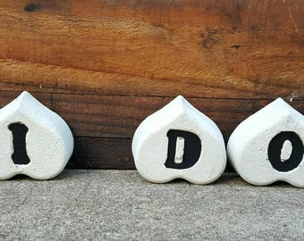White Concrete Letter, Home decor, Paperweight