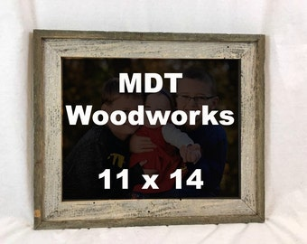 Barnwood Picture Frame Made With Reclaimed Wood