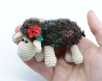 Sheep plush, Easter toy gift, little lamb decoration, shower gift