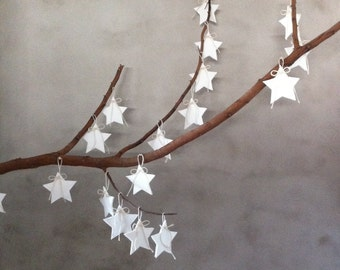 White felt stars, Minimalist decor, Anniversary decorations, wedding decor, wedding decorations, party decorations, nursery decor