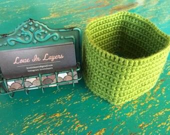 Crustom crochet infinity scarf.