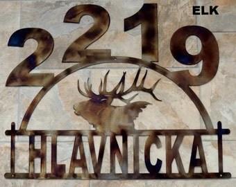Elk Address Sign HN15