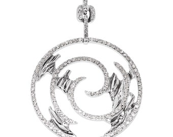 18Kt white gold beautiful pendant with 0.75Ct. round brilliants.