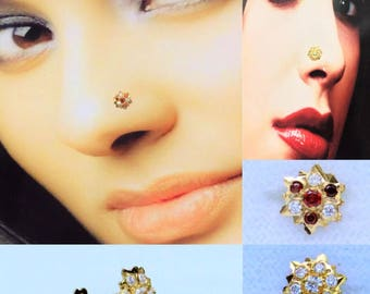 Nose Stud in Pure 18carat Yellow Gold