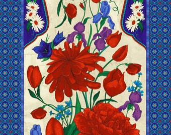 Timeless Treasures - Mosaic Floral Fabric Panel