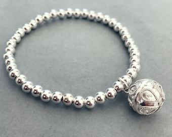 Sterling Silver Harmony Ball Bracelet