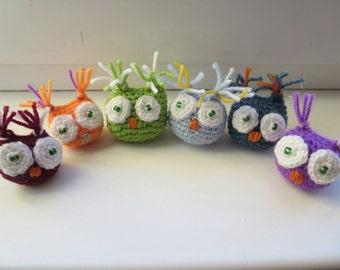 owlet crochet, amigurumi, miniature owlet, little animals, crochet animals, toy, for baby