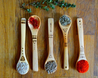 3 x Bamboo Wooden Spoons - Pick n Mix - Surprise - Valentines Day - Baby Feeding Spoon - First Birthday - New Baby - Hippy - Natural - Gift