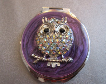 Artsy Owl Compact Purse Mirror 1pc