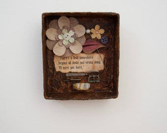 Assemblage Art Boxes - Assemblage Wall Art - Rumi