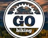 Go Biking Sticker for Car, Window, Computer or Notebook - Decal