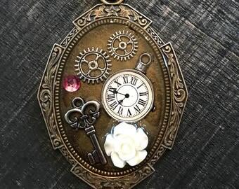 Clock Necklace | Gear Necklace | Key Necklace