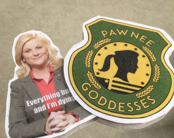 Pawnee Godess Parks and Recreation Sticker Pack